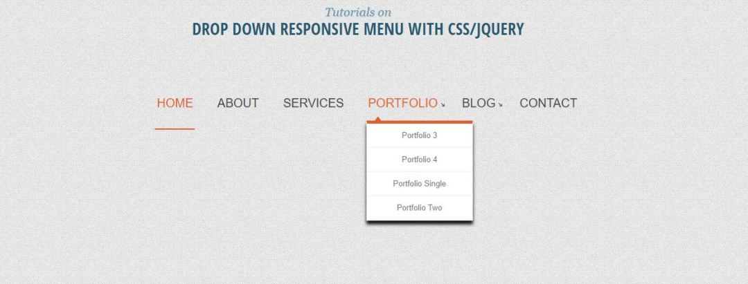 Drop Down Responsive Menu jQuery