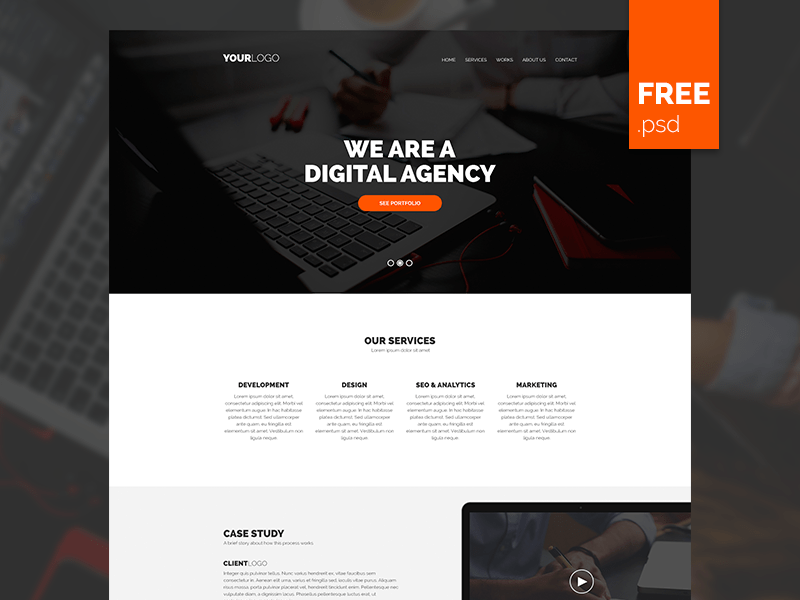 FREE PSD Agency Template