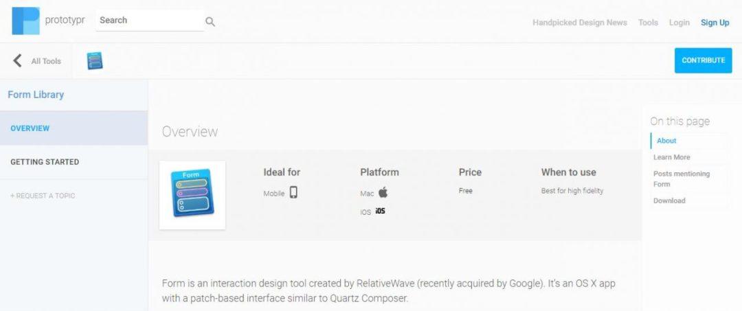 Prototypr - Mobile and Desktop Design UX Prototyping Tools