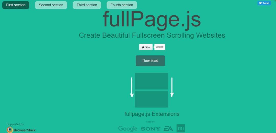 Fullpage.js - Create Beautiful Scrolling Website