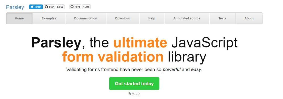PARSLEY JSValidating Forms Library