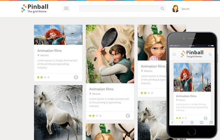 Pinball - Grid Blog Web Template