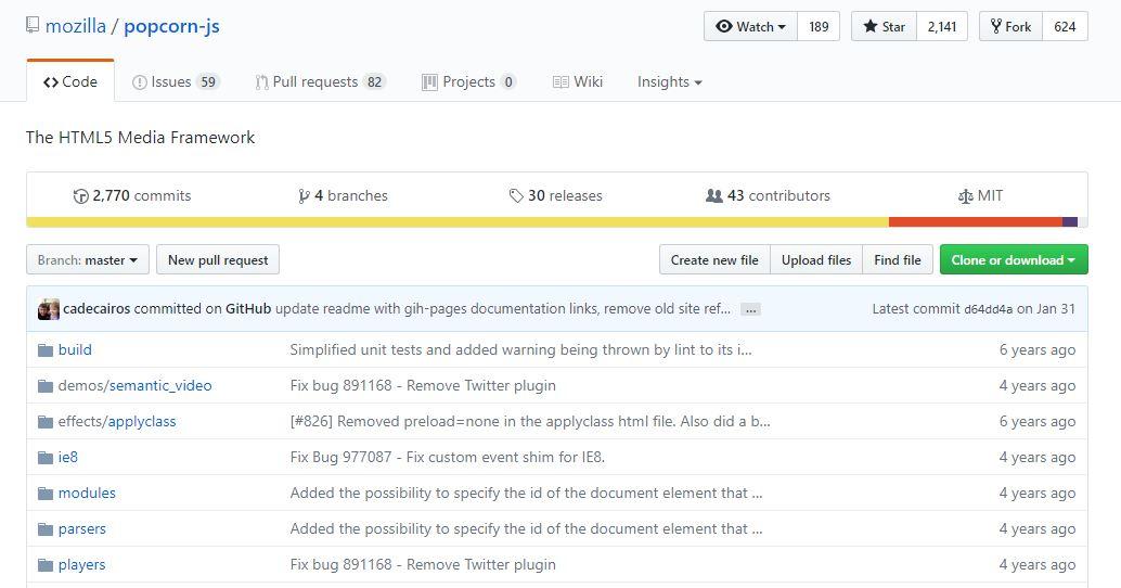 Popcorn.jsMedia Framework
