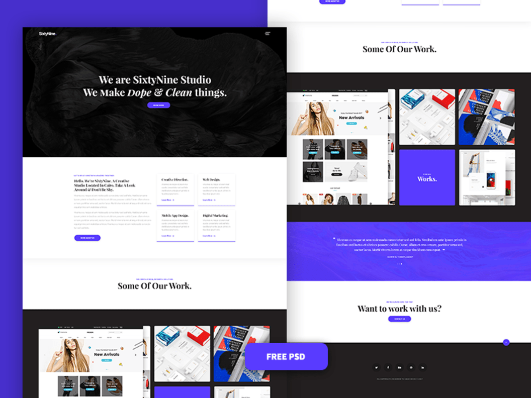 SixtyNine Agency PSD Design