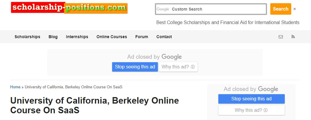 UC BERKELEY -Online Course On SAAS