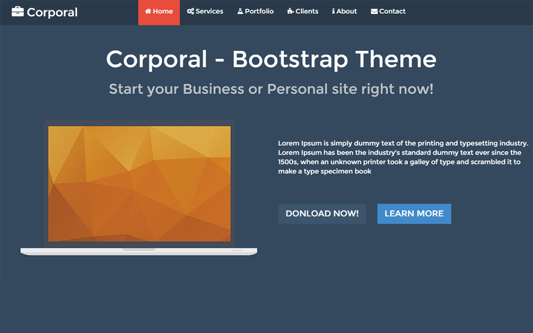 Corporal - Responsive Onepage Theme