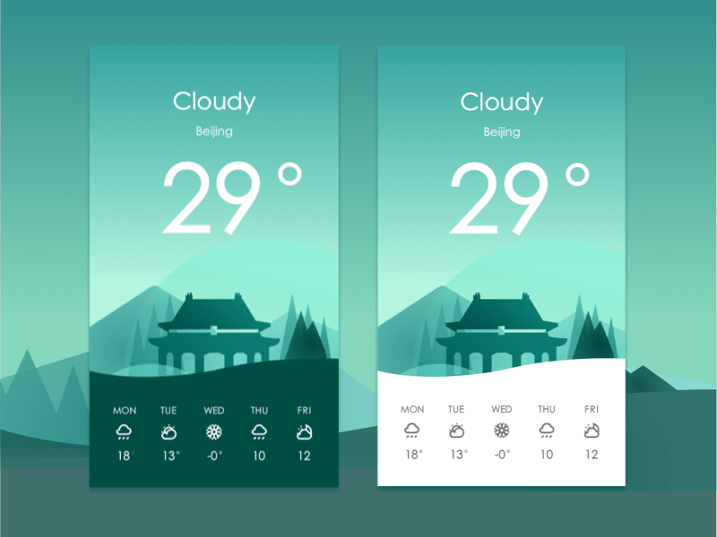 Android Weather App UI Design