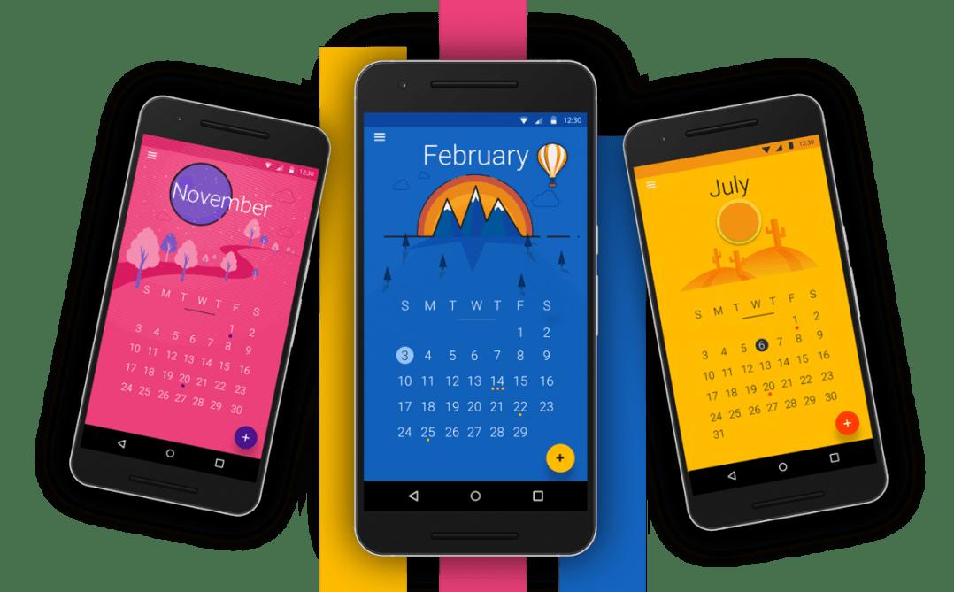 Material Design Calendar App UI
