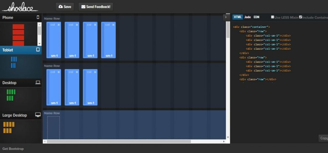 Shoelace - Visual Bootstrap Grit Builder