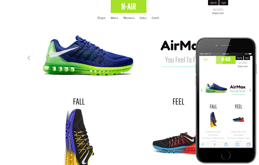Shoes - Free Ecommerce Template