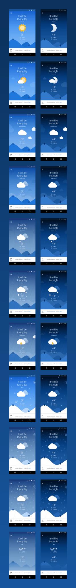 Weather Calendar App