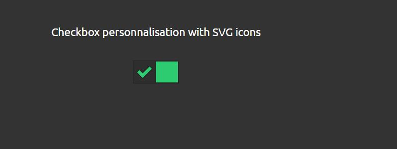Checkbox SVG icons