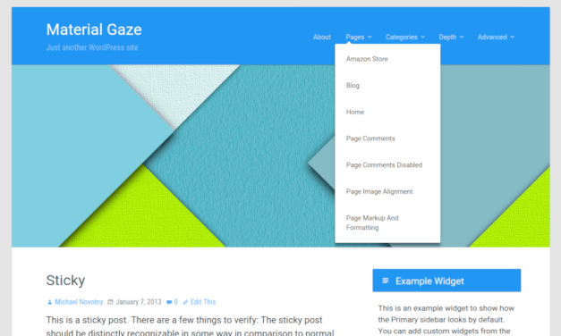 20+ Free Material Design WordPress Blog Themes