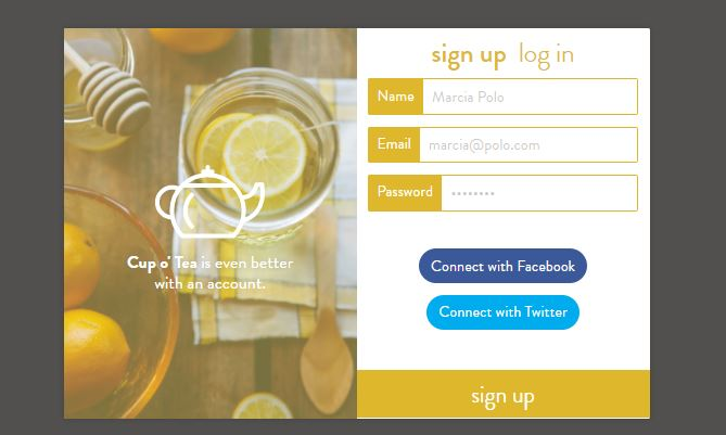 SignUp Daily UI