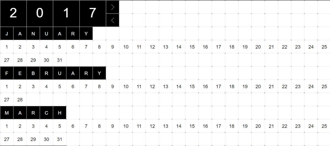 jQuery Verbose Calendar