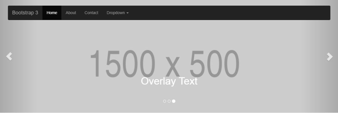 Bootstrap Navbar And Slider Overlay Text