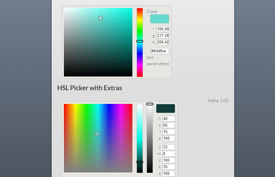 ColorJoe – Scaleable Color Picker