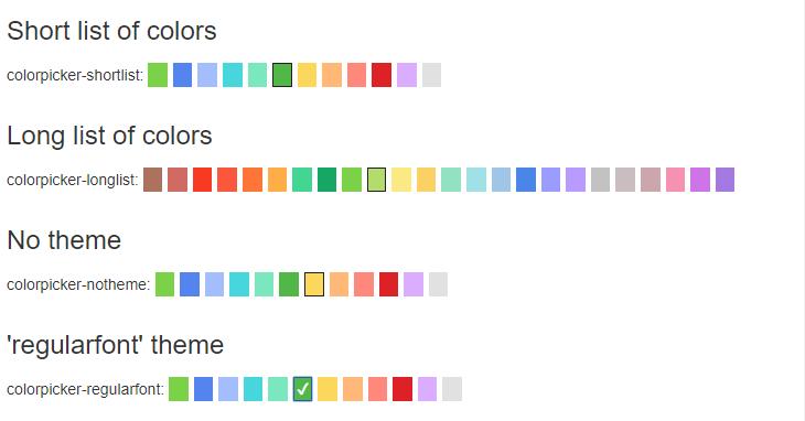 Simple Jquery Color Picker