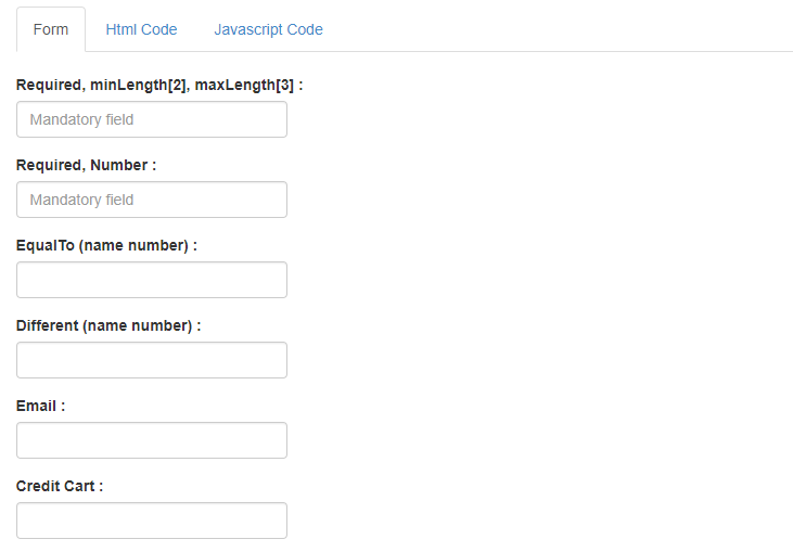 Validetta jQuery Plugin For Validate Forms