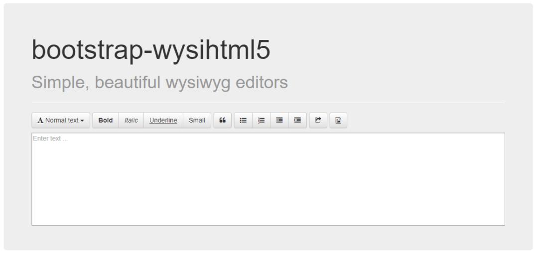 Bootstrap Wysihtml5