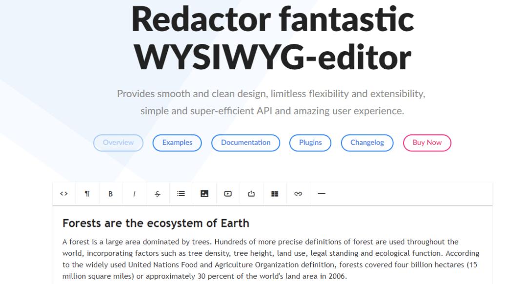 Redactor WYSIWYG Editor