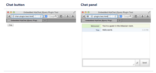 jQuery Hip Chat Plugin