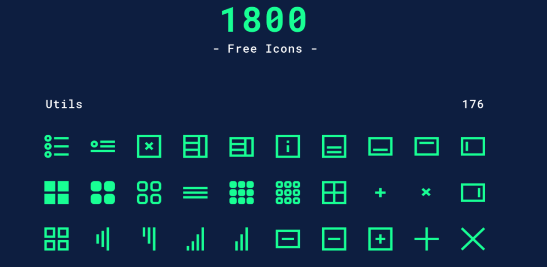 1800 Free Minimal Icon Pack