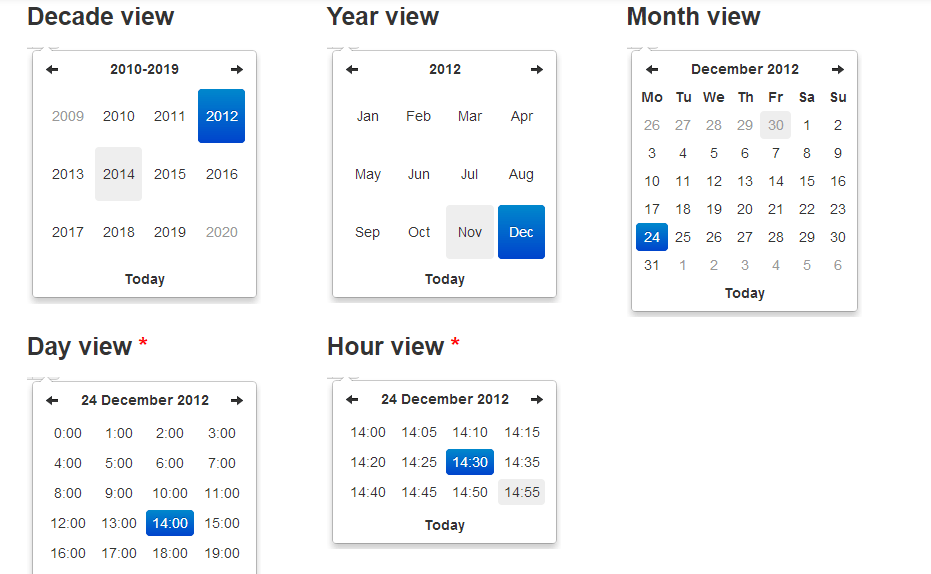Date Time Picker Bootstrap