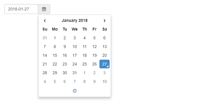 Simple Bootstrap Date Picker