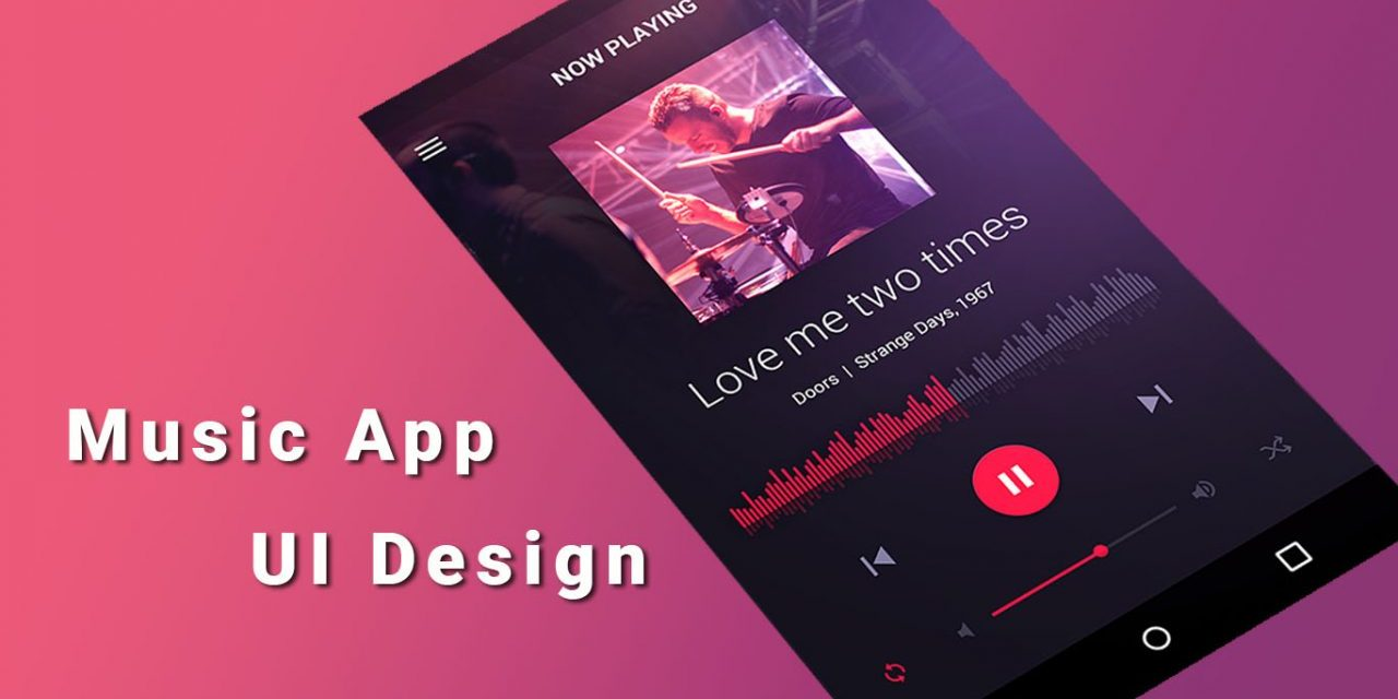 20+ Android Music App UI Design Concept