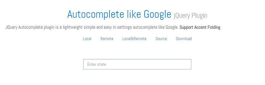 Autocomplete Like Google jQuery Plugin