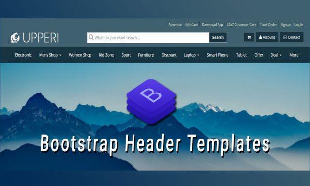 Beautiful Bootstrap Header Templates