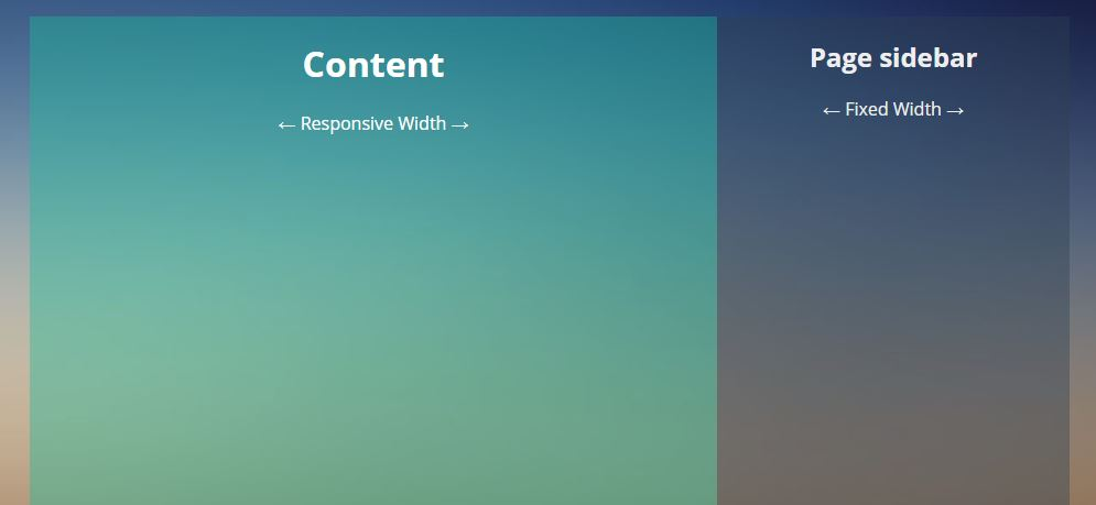 Fixed Width Sidebar Responsive Layout
