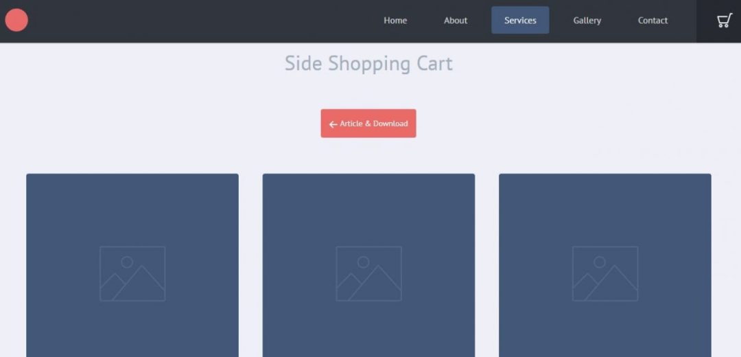 Side Shopping Cart