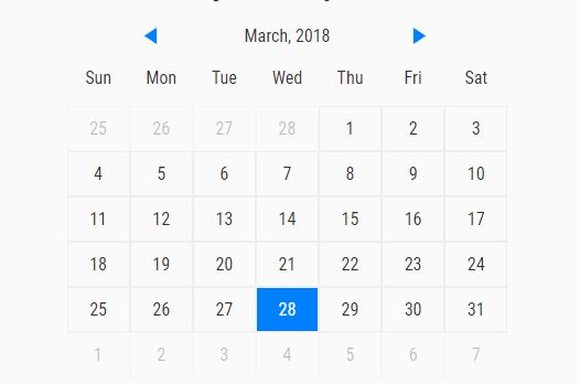 Simple Event Calendar With JavaScript