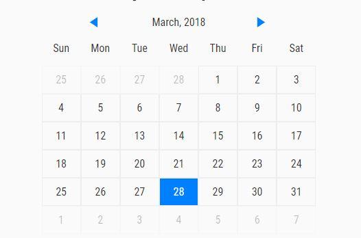 Simple Event Calendar With JavaScript
