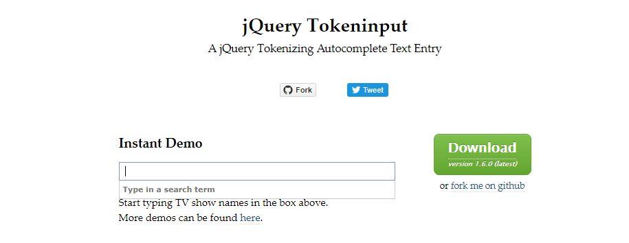 jQuery Tokeninput