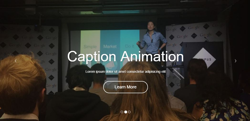 Bootstrap Slider Full Screen with Animations