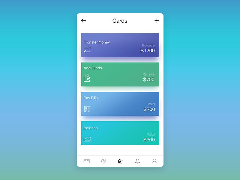 E-wallet Home Page Design