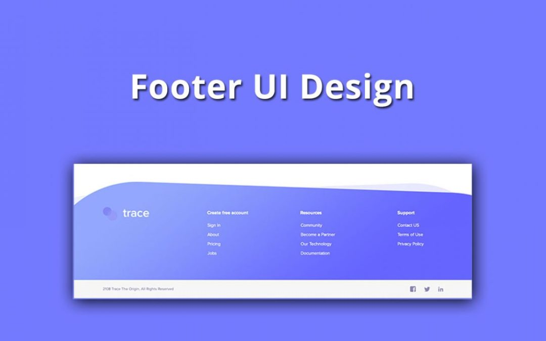 20+ Creative Website Footer UI Design