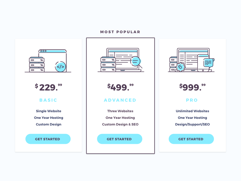 Pricing Tables by WebAdviser
