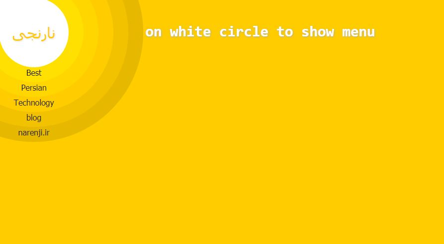 Circular menu with Jquery