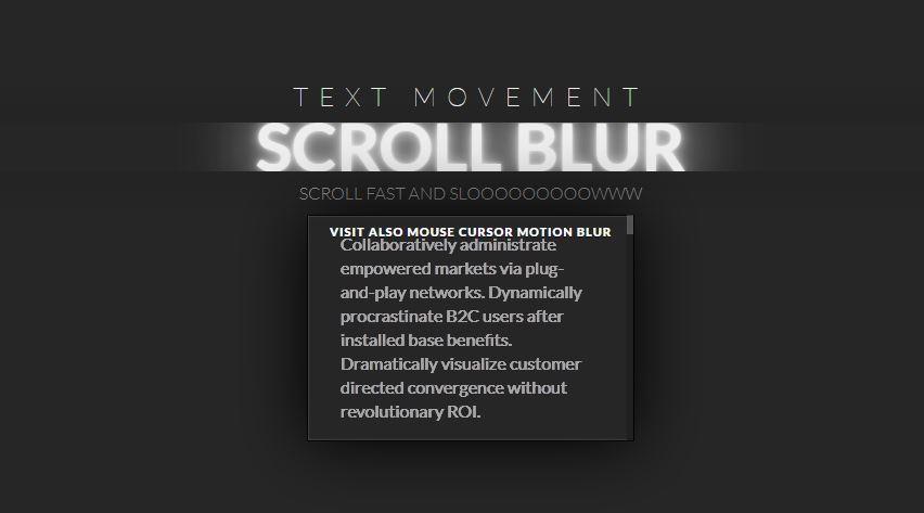 Scroll Blur