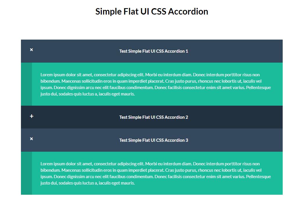 Simple Flat UI CSS