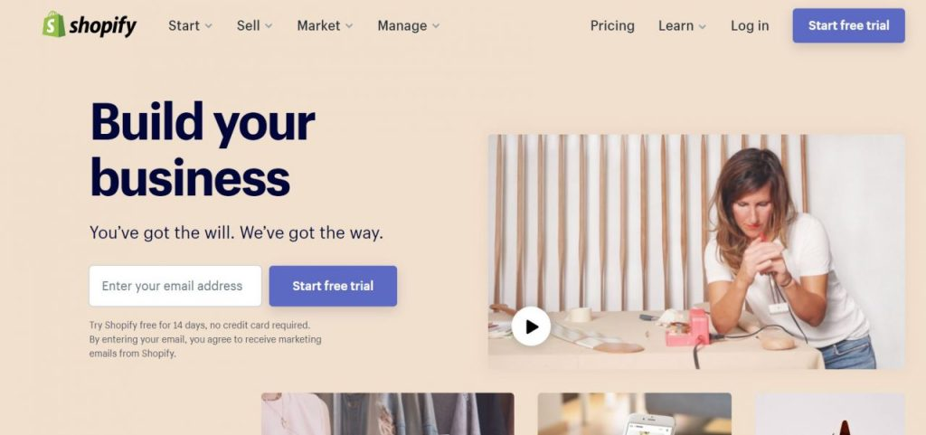 Shopify - Build Your Business
