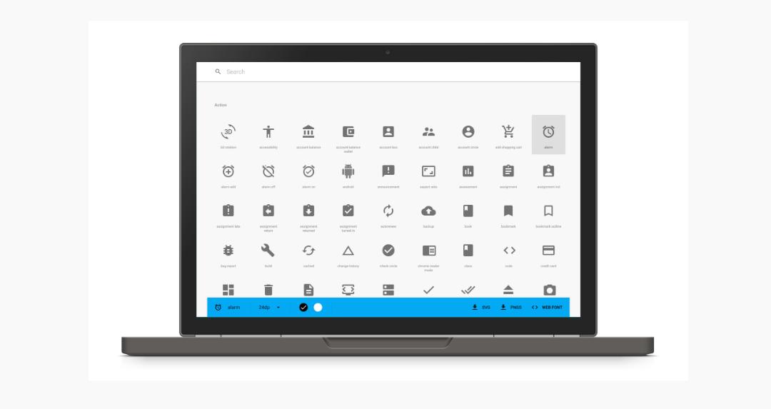 react font icons