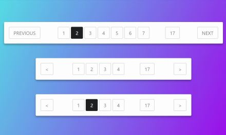 Best HTML CSS Pagination Templates