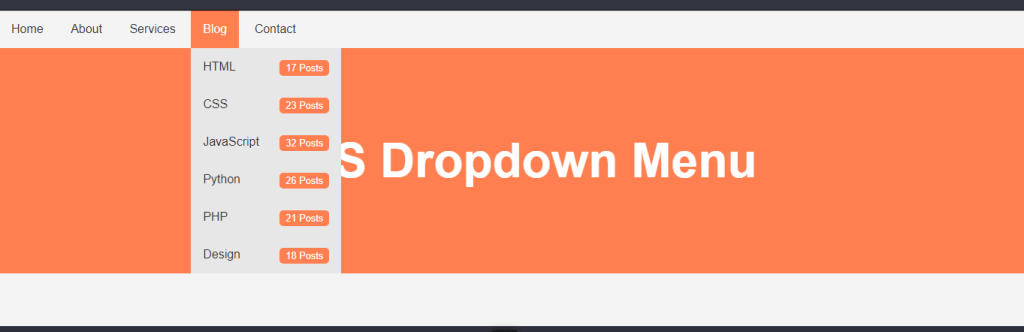 html Dropdown