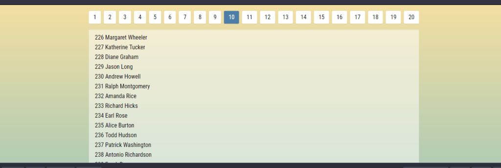 library for react js pagination component