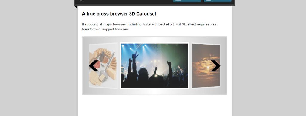 True cross browser 3D carousel